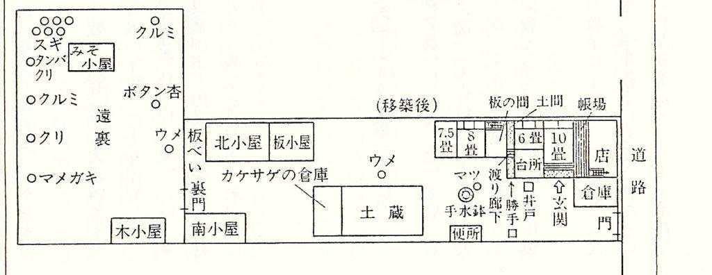 賢治生家平面図