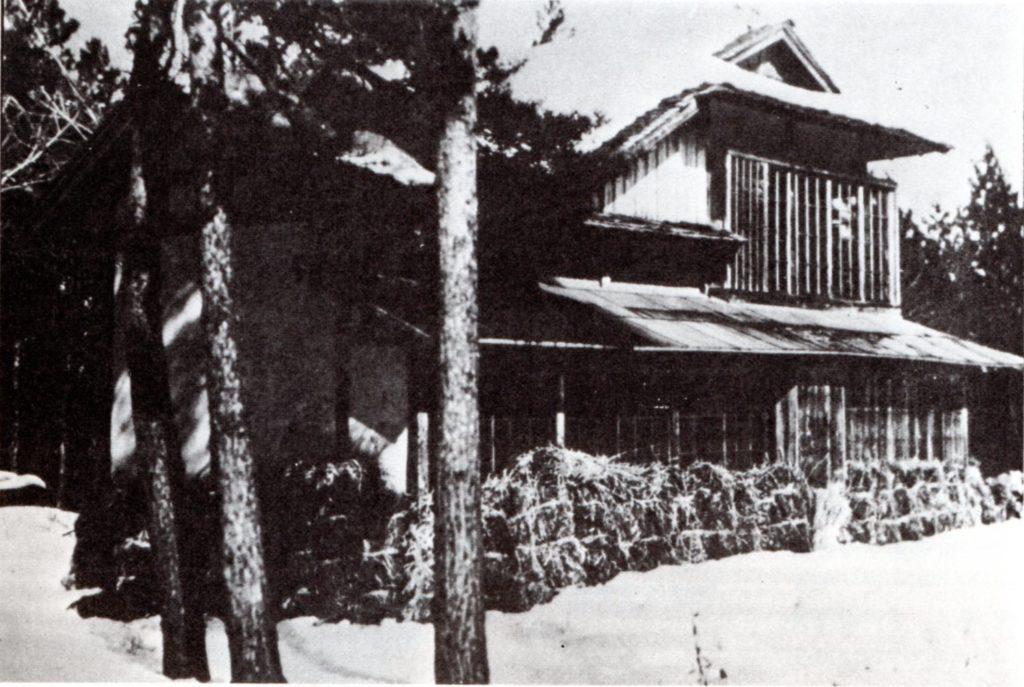 宮沢家別宅(羅須地人協会)雪囲い